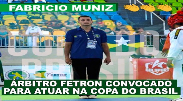 Fabrício Muniz convocado para atuar na copa do Brasil