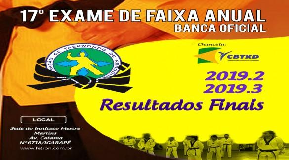 EXAME DE FAIXAS PRETA ANUAL