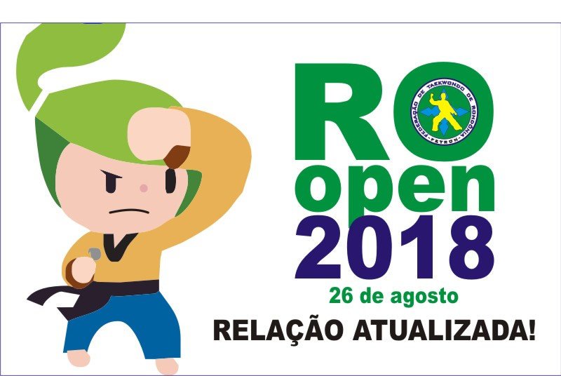 LISTA ATUALIZADA DE INSCRITOS NO RONDÔNIA OPEN