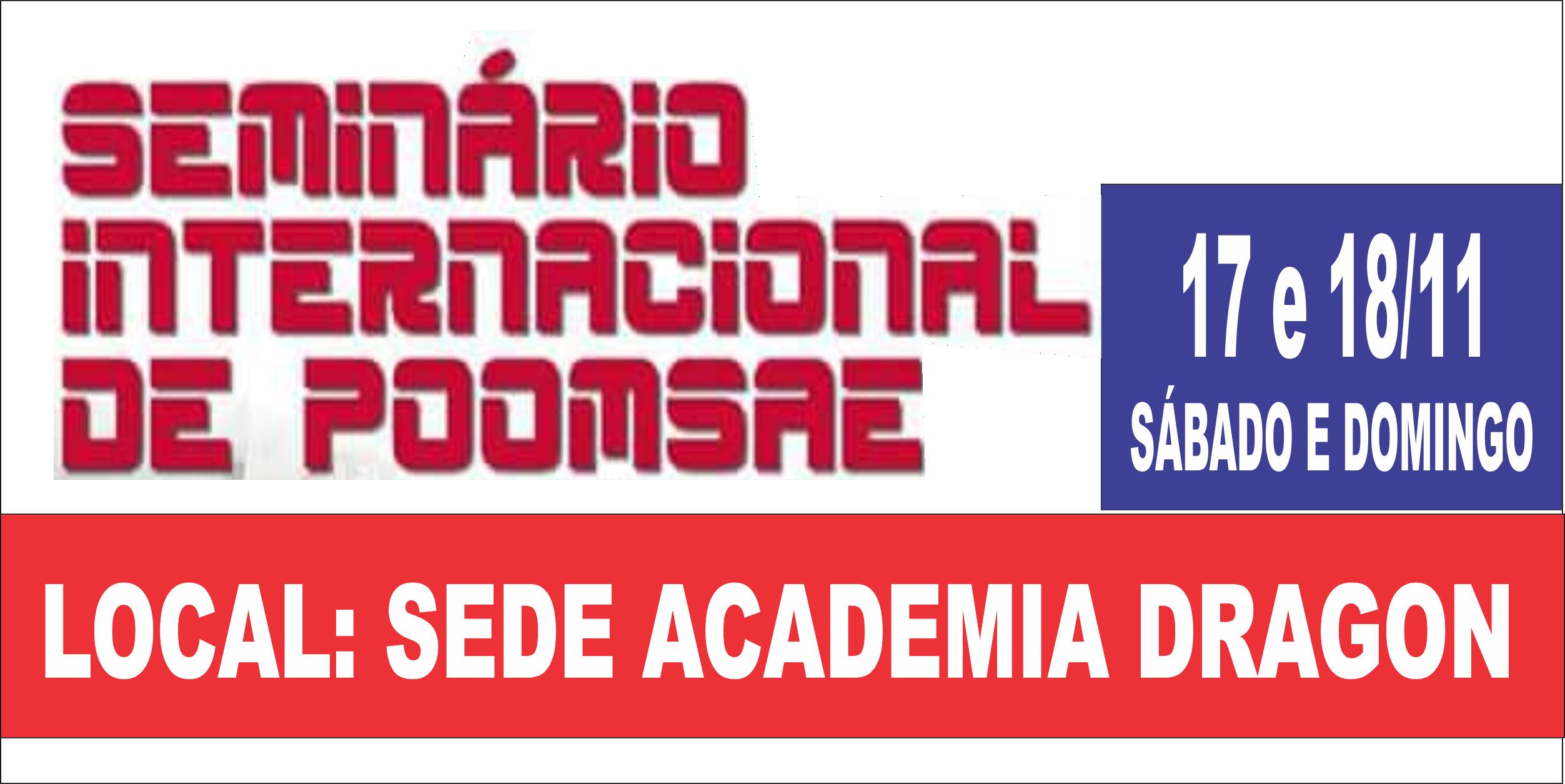 SEMINÁRIO DE POONSAE - ULTIMOS INFORMES